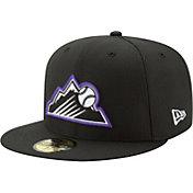 New Era Men's Colorado Rockies 59Fifty Diamond Era Black Fitted Hat