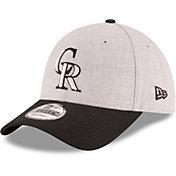 New Era Men's Colorado Rockies 9Forty Grey Adjustable Hat