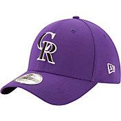 New Era Men's Colorado Rockies 39Thirty Purple Flex Hat