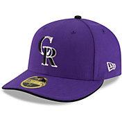 New Era Men's Colorado Rockies 59Fifty Alternate Purple Low Crown Authentic Hat