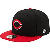 New Era Men's Cincinnati Reds 59Fifty Alternate Black Authentic Hat