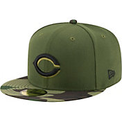 New Era Men's Cincinnati Reds 59Fifty 2017 Memorial Day Camo Authentic Hat