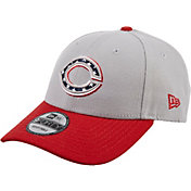 New Era Men's Cincinnati Reds Americana 9Forty Grey Adjustable Hat