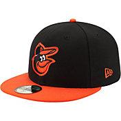 New Era Men's Baltimore Orioles 59Fifty Road Black Authentic Hat