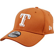 New Era Men's Texas Rangers 39Thirty City Pride Burnt Orange/White Flex Hat