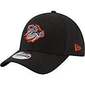 New Era Men's Lehigh Valley Ironpigs 9Forty Black Adjustable Hat