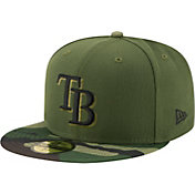 New Era Men's Tampa Bay Rays 59Fifty 2017 Memorial Day Camo Authentic Hat