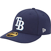 New Era Men's Tampa Bay Rays 59Fifty Game Navy Low Crown Authentic Hat