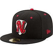 New Era Men's Nashville Sounds 59Fifty Black Authentic Hat