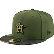 New Era Men's Houston Astros 59Fifty 2017 Memorial Day Camo Authentic Hat
