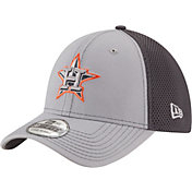 New Era Men's Houston Astros 39Thirty Grayed Out Grey Stretch Fit Hat