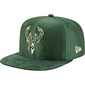 New Era Men's Milwaukee Bucks On-Court 9Fifty Adjustable Snapback Hat