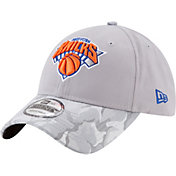 New Era Men's New York Knicks 9Twenty Grey Camo Adjustable Hat