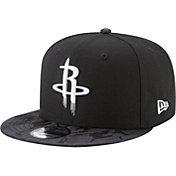 New Era Men's Houston Rockets 9Fifty Black Camo Adjustable Snapback Hat