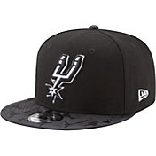 New Era Men's San Antonio Spurs 9Fifty Black Camo Adjustable Snapback Hat