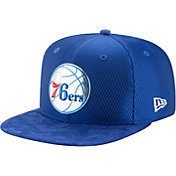 New Era Men's Philadelphia 76ers On-Court 9Fifty Adjustable Snapback Hat