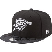 New Era Men's Oklahoma City Thunder 9Fifty Black Camo Adjustable Snapback Hat