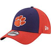 New Era Men's Clemson Tigers Regalia/Orange The League Blocked 9FORTY Adjustable Hat