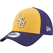 New Era Men's LSU Tigers Gold/Purple The League Blocked 9FORTY Adjustable Hat