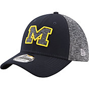 New Era Men's Michigan Wolverines Grey Fierce Fill 39Thirty Stretch Fit Hat