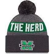 New Era Men's Marshall Thundering Herd Green NE16 Sport Knit Beanie