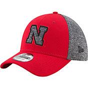 New Era Men's Nebraska Cornhuskers Grey Fierce Fill 39Thirty Stretch Fit Hat