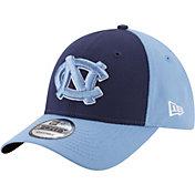 New Era Men's North Carolina Tar Heels Navy/Carolina Blue The League Blocked 9FORTY Adjustable Hat