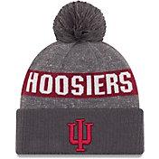 New Era Men's Indiana Hoosiers Grey Sport Knit Beanie