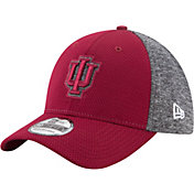 New Era Men's Indiana Hoosiers Grey Fierce Fill 39Thirty Stretch Fit Hat