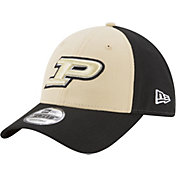 New Era Men's Purdue Boilermakers Old Gold/Black The League Blocked 9FORTY Adjustable Hat
