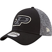 New Era Men's Purdue Boilermakers Grey Fierce Fill 39THIRTY Hat