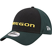 New Era Men's Oregon Ducks Black/Green The League Blocked 9FORTY Adjustable Hat