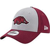 New Era Men's Arkansas Razorbacks Grey/Cardinal The League Blocked 9FORTY Adjustable Hat