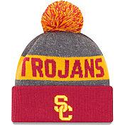New Era Men's USC Trojans Grey NE16 Sport Knit Beanie