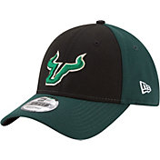 New Era Men's South Florida Bulls Black/Green The League Blocked 9FORTY Adjustable Hat