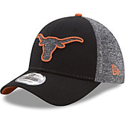 New Era Men's Texas Longhorns Black Fierce Fill 39THIRTY Hat