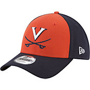 New Era Men's Virginia Cavaliers Orange/Blue The League Blocked 9FORTY Adjustable Hat