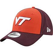 New Era Men's Virginia Tech Hokies Burnt Orange/Maroon The League Blocked 9FORTY Adjustable Hat
