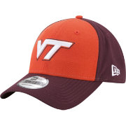 New Era Men's Virginia Tech Hokies Burnt Orange/Maroon The League Blocked 9FORTY Adjustable Hat