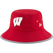 New Era Men's Wisconsin Badgers Red NE16 Training Bucket Hat