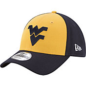 New Era Men's West Virginia Mountaineers Gold/Blue The League Blocked 9FORTY Adjustable Hat