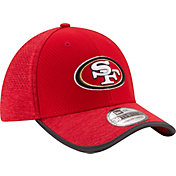 New Era Men's San Francisco 49ers 2017 Training Camp 39Thirty Red Stretch Fit Hat