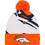 New Era Men's Denver Broncos Logo Whiz Cuffed Knit Hat