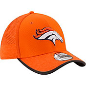 New Era Men's Denver Broncos 2017 Training Camp 39Thirty Orange Stretch Fit Hat