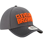 New Era Men's Cleveland Browns Sideline 2017 39Thirty Graphite Stretch Fit Hat
