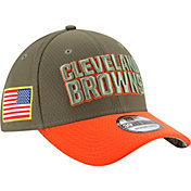 New Era Men's Cleveland Browns Salute to Service 2017 39Thirty Stretch Fit Hat