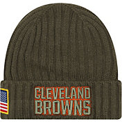 New Era Men's Cleveland Browns Salute to Service 2017 Knit Hat