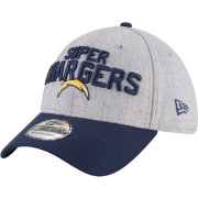 New Era Men's Los Angeles Chargers 2018 NFL Draft 39Thirty Stretch Fit Grey Hat