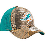 New Era Men's Miami Dolphins Real Tree Neo 39Thirty Camouflage Flex Hat