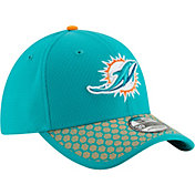 New Era Men's Miami Dolphins Sideline 2017 On-Field 39Thirty Flex Hat